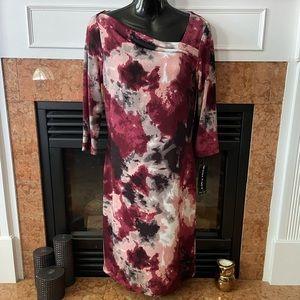 Bianca Nygard Asymmetrical Neck Dress NWT
